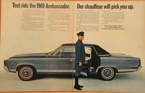1966 Amc Ambassador Vintage 10x13 Original Car Ad American Motors Amc Car Ads