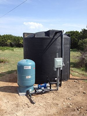 2500 Gallon Well Water Storage System in Central Texas  The Black