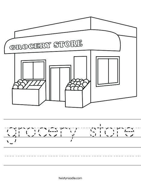 Grocery Store Worksheet Preschool Coloring Pages Worksheets Worksheet Template Grocery store worksheets
