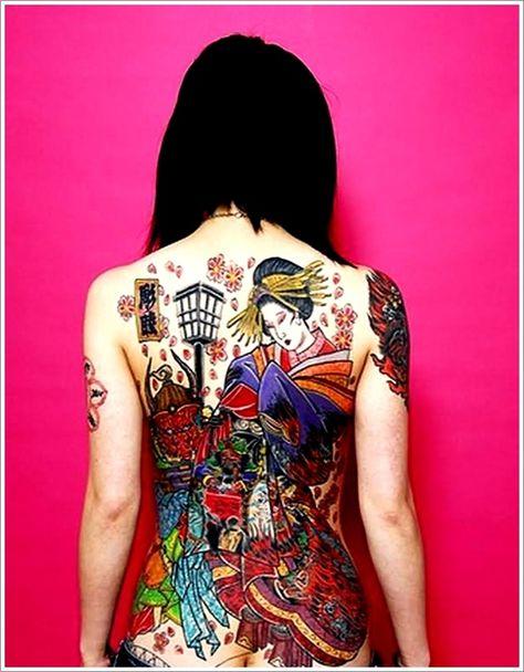 Geisha Tattoos Designs: Back Geisha Tattoo Ideas ~ Cvcaz Tattoo Art Ideas ~ Tattoo Design Inspiration