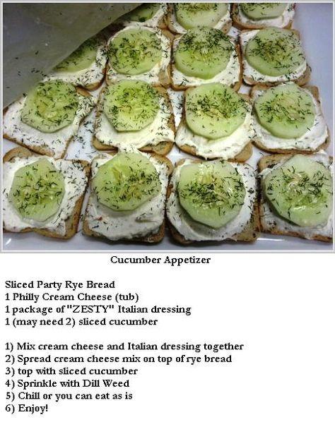 Delicious cucumber appetizer!