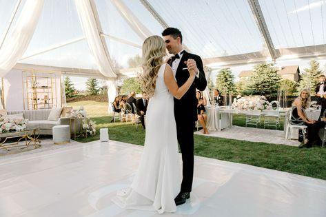 Modern Chic Wedding at Calgary Private Estate #modernchic #wedding #bride #groom #firstdance #reception