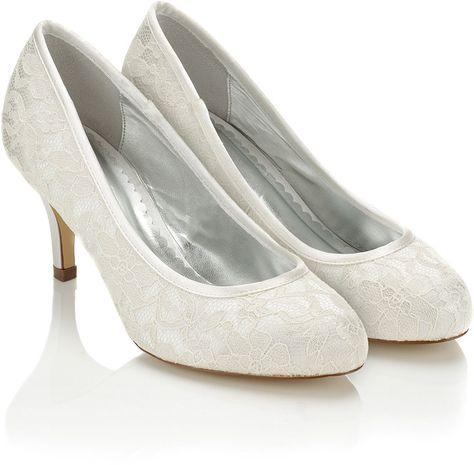 Rainbow Club Melanie Ivory Lace Mid Heel Wedding Shoe   Bridal Accessories    Pinterest   Wedding Shoes, Wedding Prep And Weddings