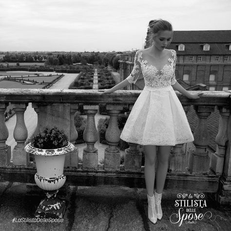 Episodio 2 - L'abito indossato da Ilaria, una frizzante sposa ballerina. Wedding Alessandra Rinaudo short dress 2016 collection.   http://www.nicolespose.it/it/abito-da-sposa-AlessandraRinaudo-TAMARA-ARAB16601-2016 #Nicole #collection #nicolespose #alessandrarinaudo #wedding #flower #flowers #abitidasposa #bianco #white #weddingdress #sposa #bride #brides #bridal #LaStilistaDelleSpose #realtime