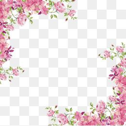 Frame Corner Pink Hand Painted Flowers Shading Decoration Hand Painted Flowers Clipart Flower Png Images Floral Wreath Watercolor Watercolor Flower Background