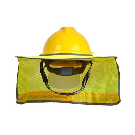 UK Construction Safety Hard Hat Neck Shield Helmet Sun Shade Reflective Cover