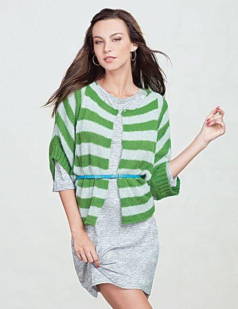 Mint/Green Stripe Cardi $98