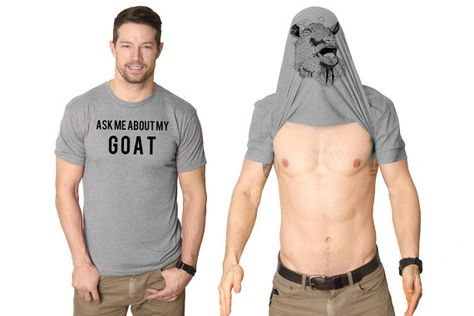 Goat Shirt Men Goat Flip Shirt Goat Gifts Goat Owner Present Flip Up Shirt Goat Stag Do Shirts Bachelor Party Shirts Funny Shirts For Men, Dad To Be Shirts, Funny Tshirts, Bachelor Party Shirts, Stupid Funny, Haha Funny, Funny Jokes, Funny Drunk, Drunk Texts