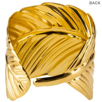 Gold Leaf Napkin Ring Hobby Lobby 105196027 Metal Leaves Metallic Gold Color Napkin Rings