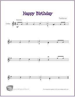 Happy Birthday Avec Images Musique Guitare Chanson