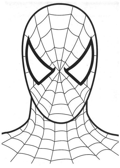 Spiderman Head Coloring Page Picture Boyama Sayfalari Orumcek