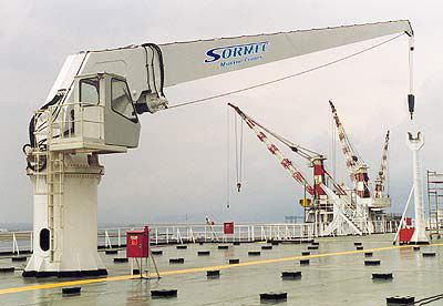 Marine Cranes Boom Knucle Telescopic Sormec Offshore Shipyard Cranes Bulk Gmg Systems Heavy Equipment Hydraulic Cranes Heavy Equipment Crane Boom Offshore