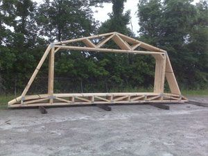 Trusses And Engineered Building Materials From Ghk Truss Llc Building A Pole Barn Garage Building Plans Roof Truss Design