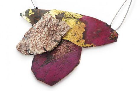 pink + gold neckpiece by Brooke Marks-Swanson | Gallery