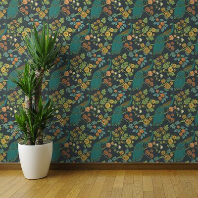 Bungalow Rose Trym Chinoiserie Removable Wallpaper Panel Size 36 L X 24 W Color Green Wallpaper Panels Grasscloth Wallpaper Brick Wallpaper Roll