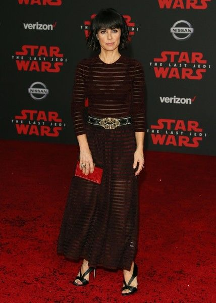 Actress Constance Zimmer arrives for the premiere of Disney Pictures and Lucasfilm's 'Star Wars: The Last Jedi.'