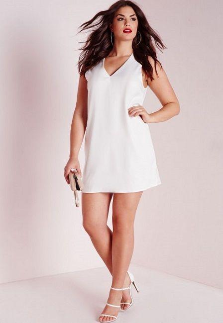 Vestidos Blanco Para Gorditas En 2019 Vestidos Blancos