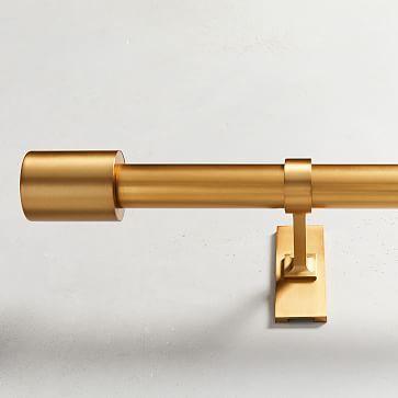 Oversized Adjustable Metal Rod Antique Brass In 2020 Brass