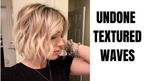 Undone Textured Waves Short Hair Youtube Short Hair Waves How To Curl Short Hair Short Hair Tutorial