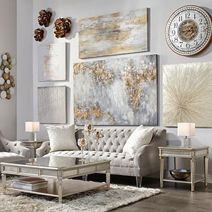Flora Wall Decor Z Galerie For The Dining Room Wall Silver Gold