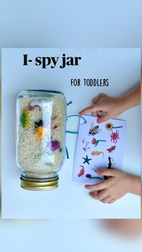 An easy to make I- spy jar for toddlers!