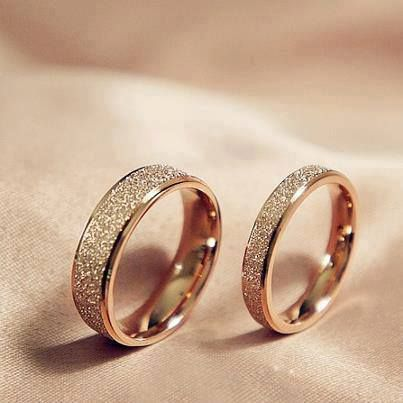 High quality titanium steel golden dull polish couple wedding rings high quality titanium steel golden dull polish couple wedding rings aud 1818 rings pinterest steel couples and ring junglespirit Choice Image
