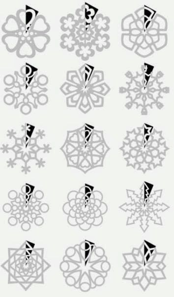 When I was a little girl I once owned a book of paper snowflake