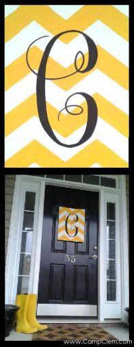 Chevron monogram: cute & easy DIY