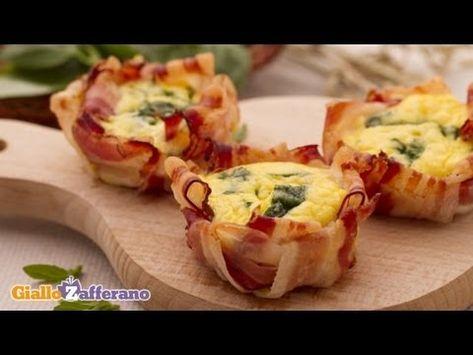 Elle place du bacon dans un moule à muffins et y verse un délicieux mélange! Vous en saliverez!