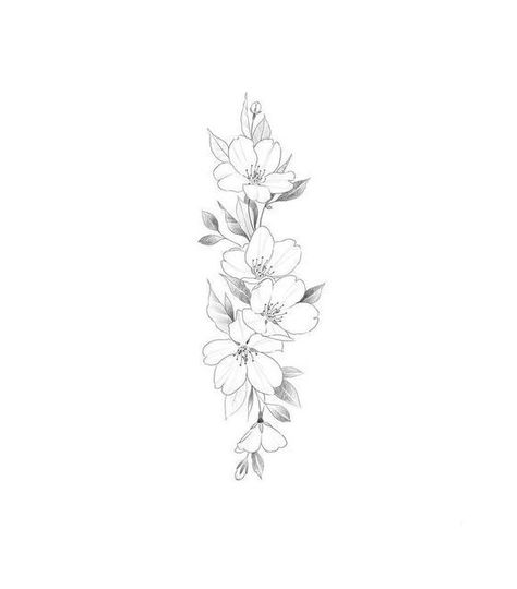 Delicate Flower Tattoo, Vintage Flower Tattoo, Tattoo Vintage, Floral Tattoo Design, Flower Tattoo Designs, Tattoo Floral, Flower Tattoo Drawings, Design Tattoos, Apple Blossom Tattoos