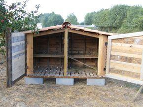 Mon Premier Poulailler En Materiaux De Recuperation Palettes Poulailler Palette Poulailler Plan Poulailler