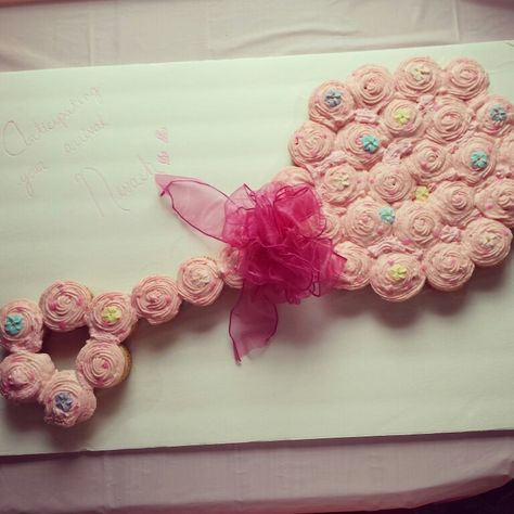 Pink Baby Girl Rattle Cupcake Cake For A Baby Shower