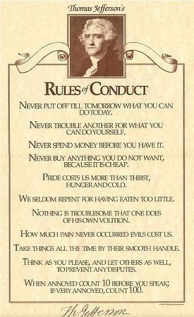 This is Rules of Conduct by Thomas Jefferson.
