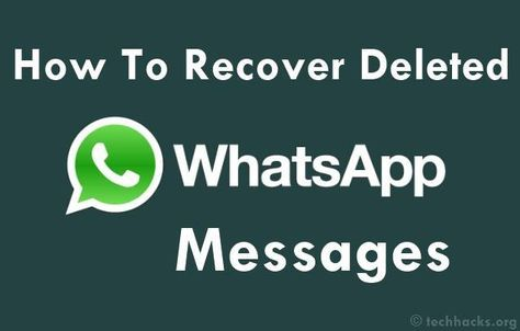 How To Recover Deleted Whatsapp Messages In 2020 Whatsapp