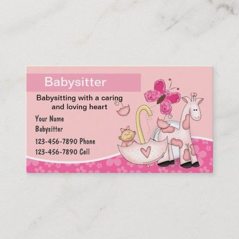 180 Babysitting Business Cards Ideas In