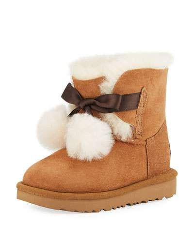 dbc04174bce Gita Pompoms Shearling Fur Boot Toddler Sizes 6-12 | Products | Fur ...