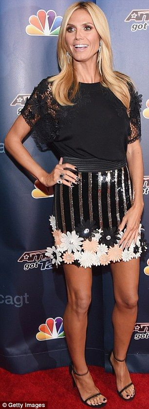 Showing their style: Heidi Klum and Mel B looked fashionable as they arrived for a taping ...