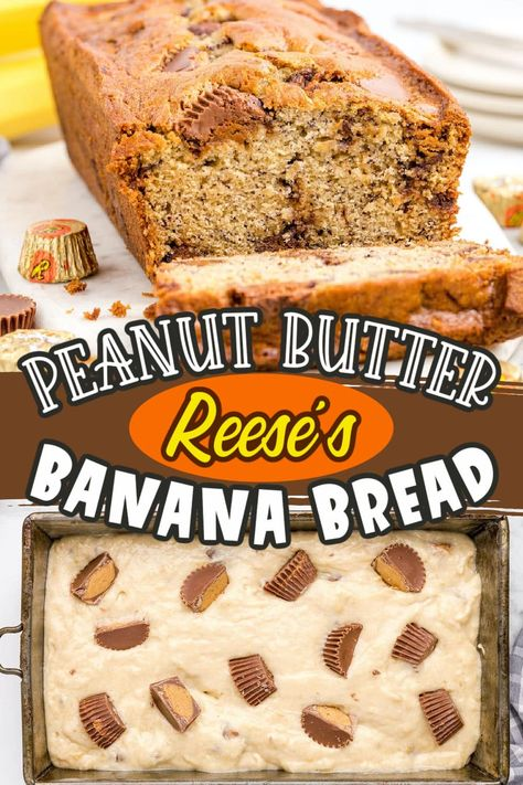 This Reese's Peanut Butter Banana Bread recipe has all the features of your favorite banana bread--it's fluffy, moist, and infused with sweet banana flavor. But when you add chocolate and peanut butter candy to the mix, you've transformed one easy-to-make staple into an irresistible treat.