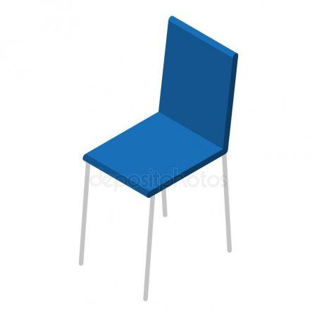 Blue Chair Icon Isometric Style Stock Vector Ad Icon Chair Blue Isometric Ad