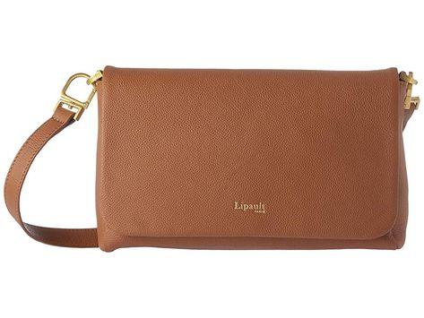 036a64e3c5 Lipault Paris Plume Elegance Leather Medium Clutch Bag (Cognac) Handbags.  The sleek lines and sophisticated silhouette of the Lipault Paris Plume  Elegance ...