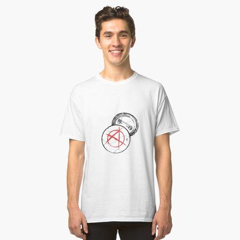 """Anarchy Punk Metal Pin"" T-shirt by Flygohr-Merch | Redbubble"