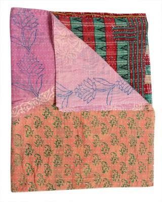 Indian Sari Kantha Gudri Throw Fair Trade Bohemian Kantha Bedding Set Kantha Quilt Handmade Baby Blankets
