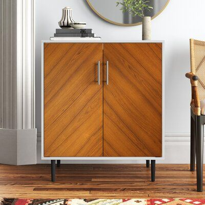 Keiko 2 Door Accent Cabinet Color White Brown Accent Cabinet Accent Doors Cabinet