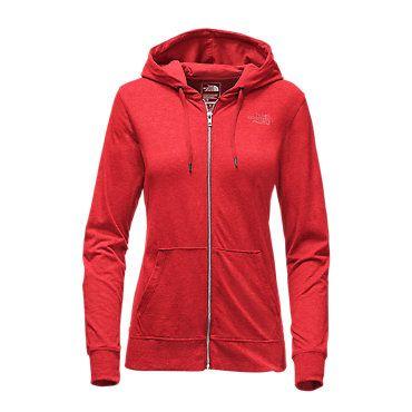 5cfdd17729ad The North Face Women s Lite Weight Full Zip Hoodie Sweatshirt Melon Red  Light Heather(std)