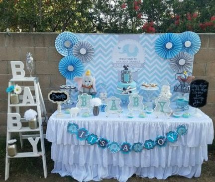 Baby Shower Games Diy Blue 46 Ideas Baby Shower Decorations For Boys Outdoor Baby Shower Decoracion Baby Shower