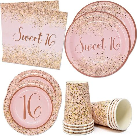 Sweet 16 Party Decorations, Sweet 16 Party Favors, 16th Birthday Decorations, Sweet 16 Centerpieces, Sweet 16 Themes, Sweet 16 Food Ideas, Sweet 16 Birthday Cake, 16th Birthday Gifts, Birthday Party For Teens