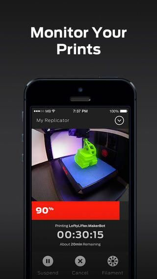 3ders org - New MakerBot Mobile app lets you control 3D printing