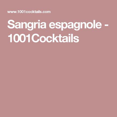 Sangria espagnole - 1001Cocktails