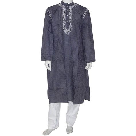 "Kurta pajamas consists of two pieces fitting garments lose a knee-length kurta like a long shirt and trousers of light cord known as pajamas or pajamas (derived from 'leg garment ""meaning Persian) ."