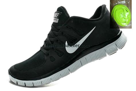 offer discounts official store 100% high quality Pas Cher Nike Free Run 5.0+ Hommes couleur noire Dark Gris Blanc ...